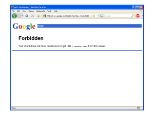 Google Next Bookmarklet 403 Error